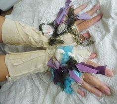 gloves, mermaid,mori girl, halloween , costume, sea weed, victorian, faery, steampunk, faery punk, costume, women accessoires, women costume by radusport on Etsy https://www.etsy.com/listing/247795190/gloves-mermaidmori-girl-halloween