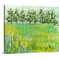 Canvas On Demand 'Across the Meadow' by Jennifer Lommers Painting Print on Canvas Size: