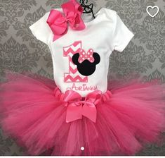 First Birthday Outfit Minnie Mouse Birthday Cake Smash Outfit Tutu Hair Bow 1st Birthday Girl Decorations, Minnie Mouse Birthday Decorations, Minnie Mouse Birthday Outfit, Minnie Mouse Party, Mickey Birthday, Birthday Tutu, Birthday Ideas, Mickey Mouse, 1st Birthday Cake Smash