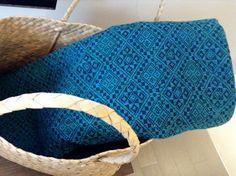 Blue pattern Ilocos, Filipino, Hand Weaving, Textiles, Blanket, Crochet, Fabric, Pattern, Blue