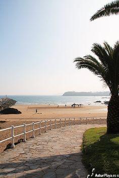 Playa la Palmera en Candas