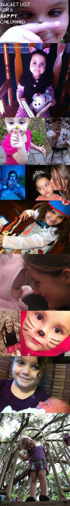 Bucket List for a Happy Childhood <3 www.littleheartsbooks.com