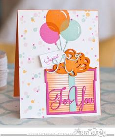 Surprise For You Card by Betsy Veldman for Papertrey Ink (November 2015)
