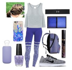 """""""Purple Run"""" by soph13-13 ❤ liked on Polyvore featuring Climawear, Casetify, NIKE, adidas, Under Armour, NYX, Too Faced Cosmetics, OPI and bkr"""