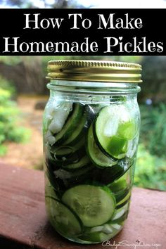 Making homemade pickles is SO easy and frugal. Gluten - Free!