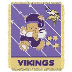 5e19ffbacd05 Minnesota Vikings Baby Blanket Vikings Football