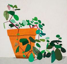 "Jonas Wood, ""Untitled (Fridge Plant), 2007.""COURTESY SOTHEBY'S"