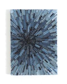 Belrossa: Recycled Denim Sunburst Textile Art