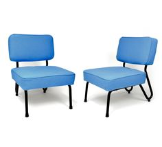 Jacques Hitier, Édition Tubauto, 1953 Armchairs, Sofas, Blue Furniture, Designer, Mid-century Modern, 1950s, Accent Chairs, Dining Chairs, Tables