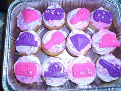 Mom Loves to Cook: Barbie cupcakes -  Yellow cupcakes with chocolate chips.  Wilton pink and purple sprays and candy melts on top. Barbie sprinkles as well. via Cake Central
