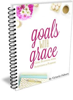 Goals with Grace... Are you tired of setting goals that don't matter or never actually get accomplished? Are you ready to live with more intention & purpose every single day? Goals with Grace is just what you need! A complete goal & personal planning system with a PDF eGuide, workbook, gorgeous printables, planner pages and so much more! Set goals that matter today!