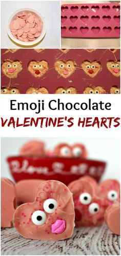 Emoji Chocolate Valentines Hearts - easy treat for your Valentine