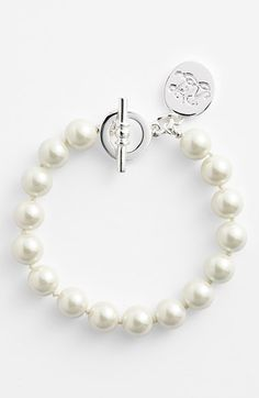 Free shipping and returns on Lauren Ralph Lauren 10mm Glass Pearl Toggle Bracelet at Nordstrom.com. A simple, yet elegant, string of lustrous glass pearls makes a lovely go-to bracelet.