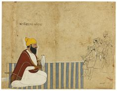 A raja on a dhurrie receiving company, a falcon on his wrist, attributable to Nainsukh of Guler or a descendant, Pahari, mid- to century Mughal Miniature Paintings, Middle Eastern Art, India Painting, Pagan Gods, Indian Artist, Art And Architecture, Asian Art, Illustration Art, Miniatures