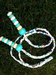 Upcycling plastic bags & a toy for kids?  What's not to love. • 7ft Jump Rope Made From Upcycled Plastic Bags by childhoodstore, $17.00