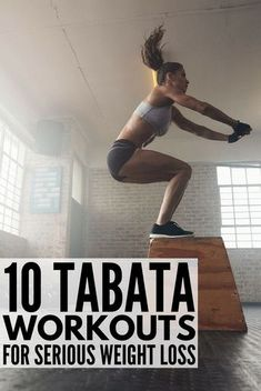 Tabata Workouts For Beginners: 10 Workouts For Serious Weight Loss Tabata workouts consist of 4 minutes of high intensity, fat-burning cardio exercises that will give you serious results. With 20 seconds of # Fitness Workouts, Lower Ab Workouts, At Home Workouts, Body Workouts, Weight Workouts, Cardio Workouts, Aerobic Exercises, Bed Exercises, Morning Exercises