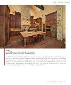 Texas Home & Living Aug 2013 Issue--ASID TGCC ASID Show House kitchen I designed!--Donna Vining-Vining Design Associates