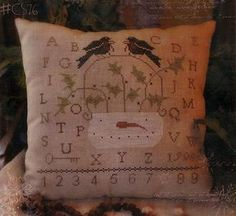 Boughs Of Holly - Cross Stitch Pattern  by With Thy Needle and Thread