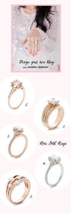 rose gold wedding rings by joseph jewelry