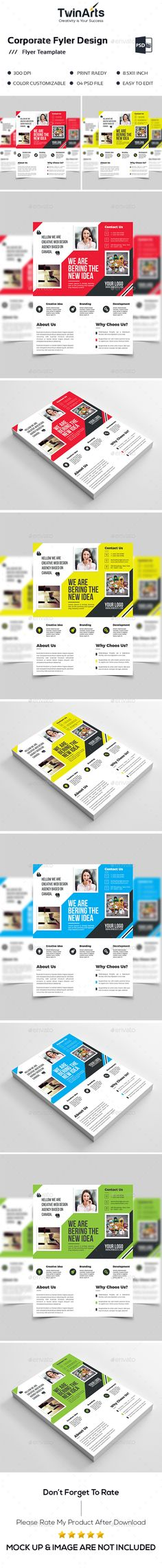 Corporate Flyer Flyer template and Print templates - web flyer