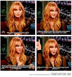 Jennifer Lawrence is hilarious…