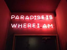 Paradise on earth. I'm in it. :-) ~ETS