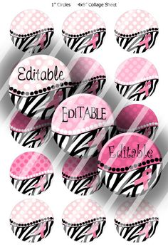 EDITABLE JPG or PDF Digital Bottle Cap by CreativeGraphicsByAJ, $2.95