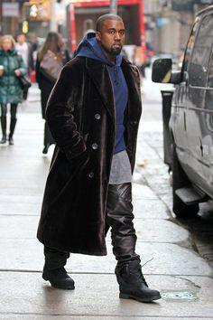 Kanye West Keeps Warm in NYC