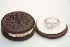 Oreo Cookie Inspiration for Engagement ring