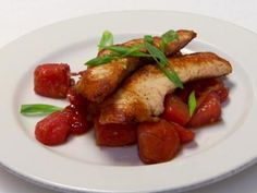 Seared Salmon with Pickled Watermelon Salad