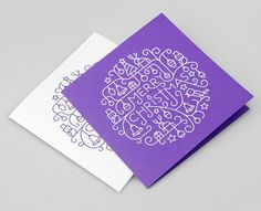 Illustrated Foil-blocked Christmas Card