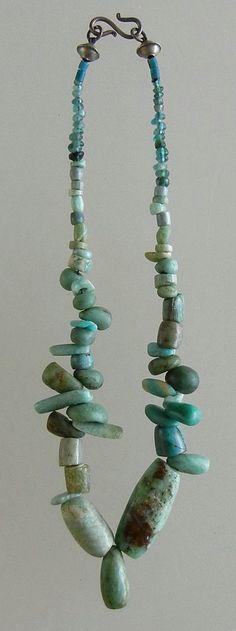 Amazonite and glass beads...