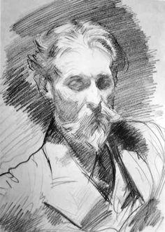 Sneak Peek: Developing Resources (Selfies) John Singer Sargent, Portrait of Peter Harrison L'art Du Portrait, Portrait Sketches, Pencil Portrait, Art Sketches, Art Drawings, Portrait Ideas, Pencil Drawings, Life Drawing, Figure Drawing