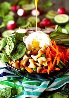 Banh Mi Salad with Honey Mustard Lime Dressing