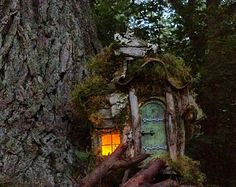 natural finish-Fairy house with 2 rooms LIMITED NUMBER LEFT