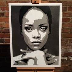 Rihanna Spraypaint on Canvas Diy Canvas Art, Canvas Paintings, Cool Art Drawings, Art Sketches, Black And White Art Drawing, Photoshop Pro, Pop Art Wallpaper, Drawing Quotes, Vector Portrait