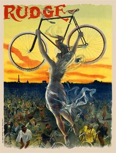 Vintage Wednesday: Art Nouveau Bicycle Posters | Cyclechic | Cyclechic. This poster expresses the beginning of women's liberation movement.