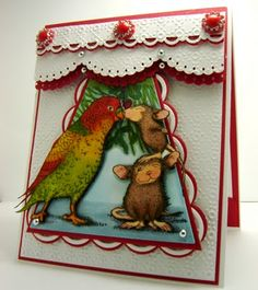 Cards By America: Missletoe Kisses for Midnight Madness Sketch Challenge # MMSC129