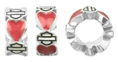 Amazon.com: Harley-Davidson® MOD® Pink Heart Spacer Ride Bead HDD0090: Jewelry Biker Chick, Beading Supplies, Beaded Bracelets, Bracelet Charms, 925 Silver, Harley Davidson, Fashion Brands, Beads, My Style