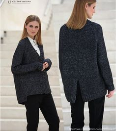Jacket Cotton-Merino by Fil Katia rus