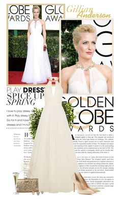 """""""Gillian Anderson - Golden Globes 2017"""" by productionkid ❤ liked on Polyvore featuring Nearly Natural, Jenny Packham, Element, Gianvito Rossi, RedCarpet, GoldenGlobes, JennyPackham, gilliananderson and goldenglobes2017"""