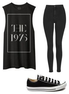 """""""Untitled #52"""" by rissy2004 on Polyvore featuring Topshop, Converse, women's clothing, women, female, woman, misses and juniors"""