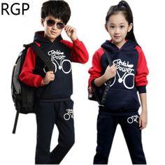 20df78f99 2017 Brand Kids Girl Set Fall Winter Warm Clothes Full Sleeve Sport Suit Children  Boy Hooded Sweatshirt Year Tracksuits   Pub Date  Feb 17 2017