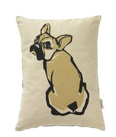 French bulldog print pillow. Cloud 7.