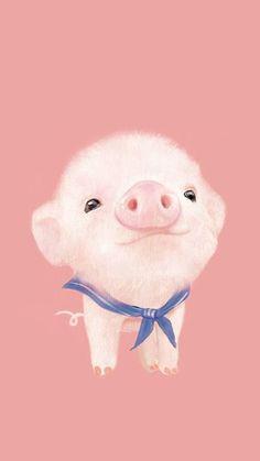 Cute Pig Wallpaper Hd For Mobile Pig Wallpaper, Animal Wallpaper, Cartoon Wallpaper, Disney Wallpaper, Wallpaper Ideas, Trendy Wallpaper, Cute Drawings, Animal Drawings, Baby Animals