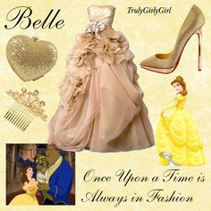 Disney Style: belle, created by trulygirlygirl on Polyvore