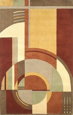 Signature Art Deco Area Rug