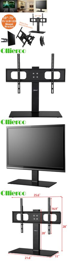 TV Mounts and Brackets Fitueyes Tv Stand With Swivel Mount Pedestal