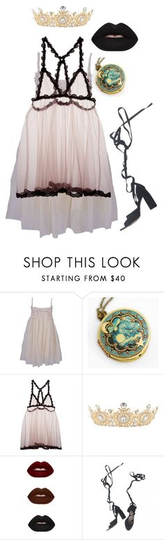 """""""Untitled #3346"""" by patpotato ❤ liked on Polyvore featuring lisa brown, Fleur du Mal and Miu Miu"""