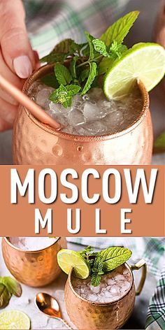 Moscow Mule Recipe Moscow Mule Recipe,Video Pins Moscow Mule Recipe: Classic cocktail recipe that is so refreshing and perfect all year round! Easy to make with just 3 ingredients Cocktail Videos, Cocktail Recipes, Classic Drink Recipe, Moscow Mule Drink, Moscow Mule Pitcher Recipe, Cocktail Original, Vodka Lime, Vodka Tonic, Alcohol Drink Recipes
